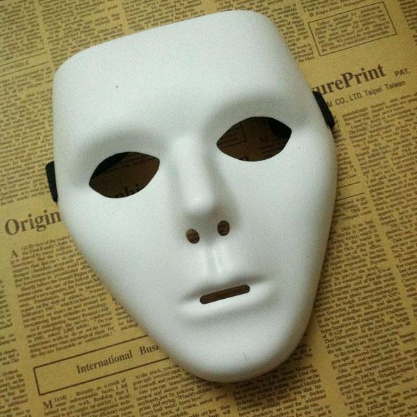 New type jabbawockeez mask dance PVC pure white mask masquerade party masks halloween hip-hop male masks 400pcs(China (Mainland))