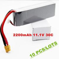 Rechargeable battery New HOT DJI 2200mah 11.1v 30c  RC LiPo Li-Poly Battery  for DJI Phantom FC40 with XT60 5pcs