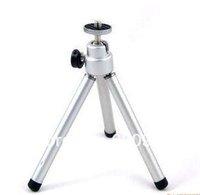 100% GUARANTEE  10 PCS x Mini Tripod Aluminum Metal Lightweight Tripod Stand Mount For Digital Camera Webcam Phone DV Tripod