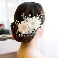 bride wedding hair accessories, handmade exquisite headdress flower