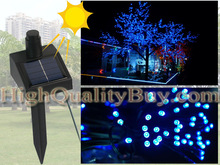 NEW Solar Power 60 LED String Fairy Light Xmas Garden Blue(China (Mainland))