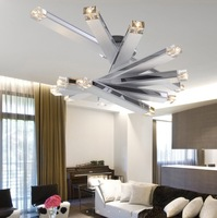 Fashion LED crystal modern simple ceiling light Creative living Room light with 8 light