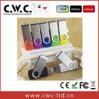 Free shipping  wholesale lowest  price 2GB 4GB 8GB 16GB 32GB 64GB promotional swivel usb flash drive