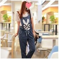 2013 loose rabbit denim bib pants jumpsuit