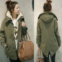 Autumn and winter wool thickening liner set trench casual outerwear cotton-padded jacket medium-long wadded jacket