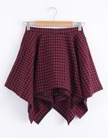 Ulzzang HARAJUKU preppy style plaid short skirt bust skirt women's