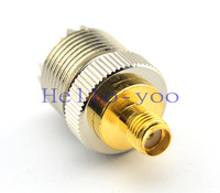 Free shipping 5 pcs/lot  PL259 SMA Jack Female Goldplated to UHF Female Jack Nickelplated Connector Adapter