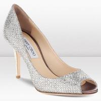spring/summer new arrival jc 85 cm heel peep toe jc silver serpentine women pumps elegant  wedding shoes party shoes