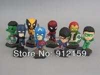 8pcs/Set Super Hero Figures Toys The Avengers Toys Q Little Hobbies Classic Toys Action Figures Retail & Wholesale