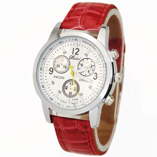 Hot Brand Red Fashion Snakeskin Diamond Face Women's Ladies Girl Dress Leather Calendar Quartz Wristwatches Clock, Free Shipping(China (Mainland))