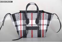 Luggage Phantom Shopper Bags Weaved pattern genuine leather