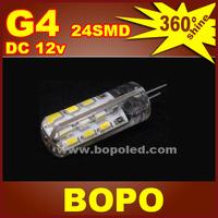 Free shipping BOPO LED G4 24Pcs SMD3014 DC 12V crystal lamp Marine Camper Car Bulb Lamp