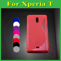 1X Screen Protector+1X S Line Soft TPU Case Cover For Huawei Ascend Y300 U8833/T8833