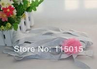 10 Yards Silver Glitter 5/8 Fold Over Elastic for Baby Headbands, Elastic By Yard Hair Accessory Velvet FOE Free Shipping