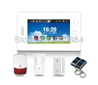 wireless alarm system for burglar alarm system 868Mhz GSM alarm system 7 inch touch screen
