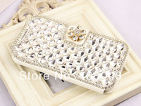Bling Rhinestone case for Samsung Galaxy S5 i9600 Retail Fashion style Luxury Big Crystal and diamond case Free shipping