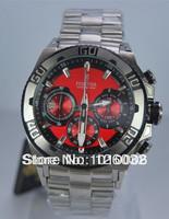 Festina F16658-8 Men's Chronograph Chrono Bike Red Dial Steel Bracelet Date Bike Tour de France 100M Quartz Watch F16658/8
