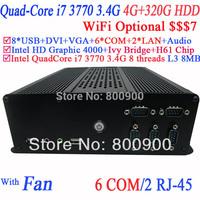 Quad core i7 Desktop Mini ITX with Intel i7 3770 3.4Ghz 3.9Ghz Turbo LGA 1155 77W Quad-Core Desktop Processor 4G RAM 320G HDD