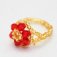 2014 charm jewelry crystal knitted flower rings 4752 for Women Christmas & Birthday love gift Free Shipping