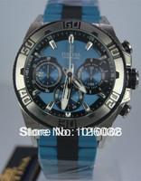 Festina F16659-3 Men's Light Blue Dial Light Blue Rubber & Steel Bracelet 2013 Chrono Bike Watch F16659/3