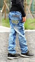 Children jeans han edition boys jeans, casual pants cuhk children children's wear pants