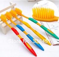 South Korea toothbrush toothbrush 16 grams of gold yellow nano healthy adult toothbrush high quality free shipping 4 PCS/bag