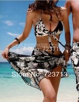 2014 new fashion Women Beach Swimwear Swimsuit  Vintage Bathing Suit Women Triangle Bikinis set