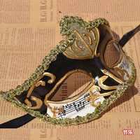 Quality antique carved the notes of the mask male mask dance party mask