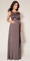 Sexy V-back Lace Maternity Evening Dress Long Noble/Elegant  Formal Maternity Dress M-0550