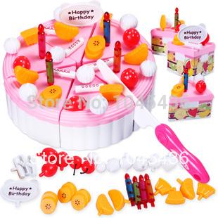 Free shipping Child birthday gift girl toys birthday cake set qieqie see assembling toys(China (Mainland))