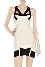 cheap halter cut out dress