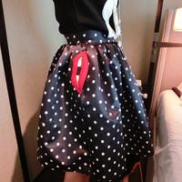 2014 large polka dot bust skirt 75243