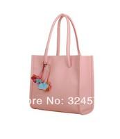 Hot sell handbang 2014 Spring New Style Women totes brief beauty women leather handbag shoulder bag women 10 color Free shipping