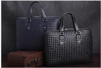 The new B weave woven bag briefcase computer bag men