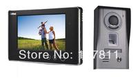 """2014 New  7"""" Luxury  video door phone , Video Intercom system fingerprint  unlock ,with waterproof cover     1 to  1"""