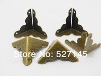 Free Shipping 100Pcs Bronze Color Box Corner Protector Guard Edge Desk Edge Cover 25mm
