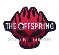 Fashion Red Skull Iron On Patch ot Sticker, Band Logo Fabric Jacket Patch, Punk Badge, Kids Cloth DIY Accosseries