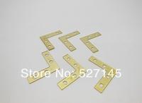Free Shipping 100Pcs Angle Flat L Shaped Corner Brace Bracket 38mm x 38mm