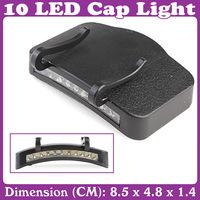 Fishing 10 LED Cap Light Lamp Emergency Light Headlamp Headlight  3 pcs/Lot