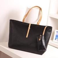 Fashion bags Free shipping,2014 women commuter belt buckle big bag wild colorful shoulder bag fashion handbag,