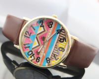 New Arrival Women's Watches, Geneva leather Watches, Fashion Gifts Quartz watch Free Shipping