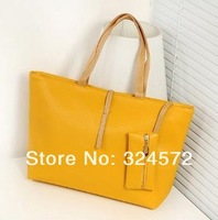 Free shipping,2014 women commuter belt buckle big bag wild colorful shoulder bag fashion handbag,Fashion bags
