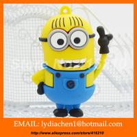 New Pendrive Minions USB 2.0 Flash Drive 128MB 4GB 8GB16GB 32GB 64GB Despicable Me 2 Pen drive Memory stick U Disk