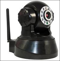 Wireless Wifi IP Camera IR NightVision 10 LED Indoor PTZ Dual Audio Black/white KA-IPC212W
