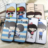 The Sweetest Romantic Couples Case,High quality Relief Painting Hard PC Case For iphone5,2pcs Free shipping