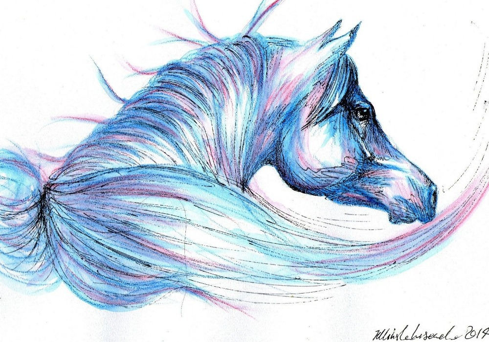 Horse Eyes Painting Horse Watercolor Painting