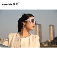 Women's anti-uv sunglasses vintage sunglasses big box sun glasses fashion sunglasses large female sunglasses