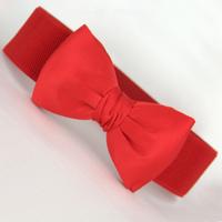Chiffon big bow wide cummerbund female elastic belt candy color decoration wide belt elastic cummerbund
