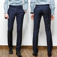 2014 spring trousers slim men's western-style trousers easy care western-style trousers male casual suit pants