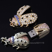 4GB 8GB 16GB 32GB Full Capacity Beetle Shape Rhinestone USB 2.0 Flash Drive pendrive thumb Car Key Memory Card Pen